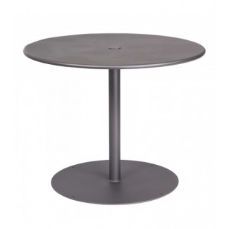 13L3RU36 36 round Solid Top Restaurant Dining Umbrella Table with Pedestal Base Commercial Wrought Iron